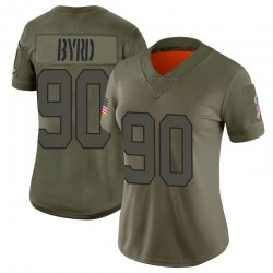 Nike Dennis Byrd New York Jets Women's Limited Camo 2019 Salute to Service Jersey