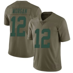 Nike James Morgan New York Jets Men's Limited Green 2017 Salute to Service Jersey