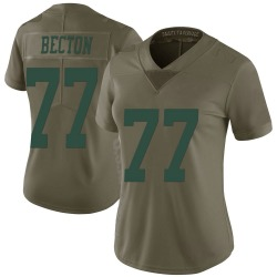 Nike Mekhi Becton New York Jets Women's Limited Green 2017 Salute to Service Jersey