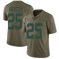 Nike Nate Hairston New York Jets Men's Limited Green 2017 Salute to Service Jersey
